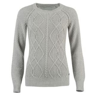 884443ffe Kangol Cable Knit Crew Neck Jumper Ladies Grey Marl 14 (L)  Amazon.co.uk   Clothing