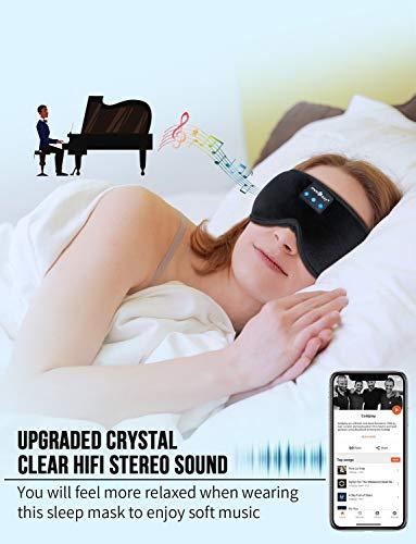 MUSICOZY Sleep Headphones Bluetooth Headband Sleeping Headphones Sleep Mask, Noise Cancelling Headphones Sleep Earbuds…