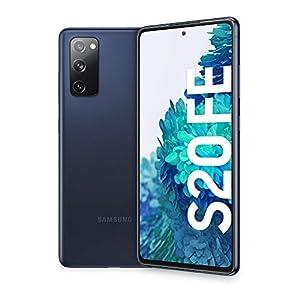 "Samsung Smartphone Galaxy S20 FE, Display 6.5"" Super AMOLED, 3 fotocamere posteriori, 128 GB Espandibili, RAM 6GB, Batteria 4.500mAh, Hybrid SIM, (2020) [Versione Italiana], Navy (Cloud Navy) 12"