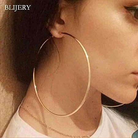 Favorito de las mujeres de la manera BLIJERY moda grande del aro ...