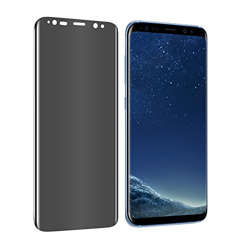Galaxy S8 Plus Privacy Tempered Screen Protector, YCFlying Premium [3D Curved Edge] [Anti-Spy] [Bubble-Free] 9H Hardness Tempered Glass Screen Protector Samsung Galaxy S8 Plus (Transparent)
