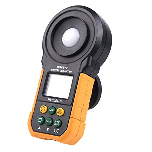 Gossen Flash Meter (HYELEC MS6612 Digital Lux Meter Handheld Multifunction Meter for Light Illuminance Measure)
