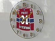 FanPlastic Carey Price 31 - 'Lets Go Habs' Wall Clock - Canadian Hockey League Legends Ed