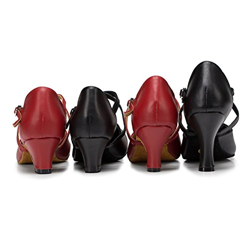 Burgudy 35 bal 6cm Miyoopark heel Salle femme de rouge wEz8qXz