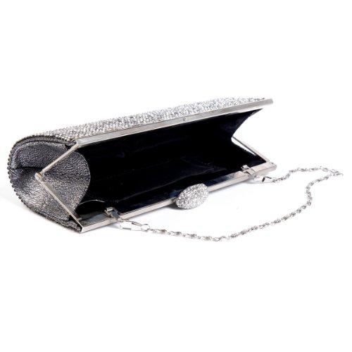Damara - Bolso al hombro para mujer medium Plata - plata