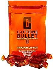 Cafeïne Bullet Energy Chews - chocoladesinaasappel * 40 - Snellere boost dan gels, tabletten en kauwgom. 100 mg cafeïne - sportwetenschap voor hardlopen, fietsen, gamen en pre-workout uithoudingsvermogen.