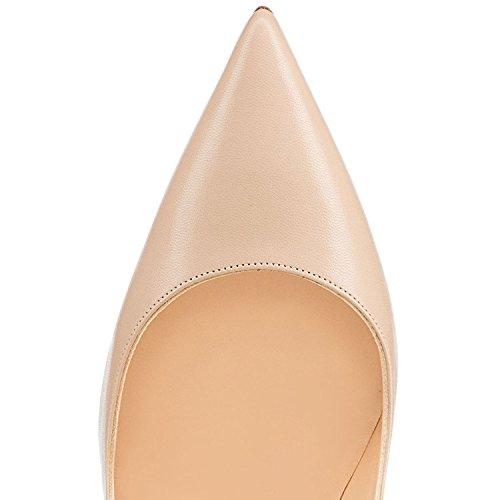 Aiguille Beige Taille Femme Heel High Talon 120mm Chaussures Edefs zwUAYZ