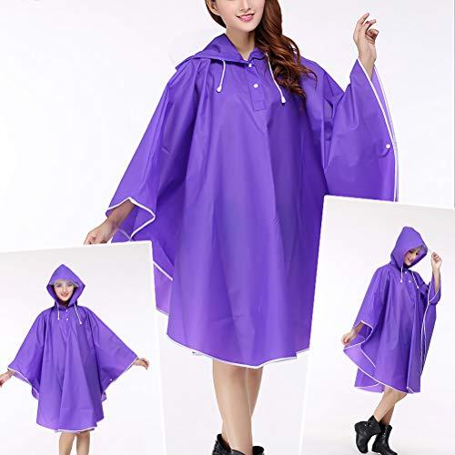 Impermeabile Purple Ihoy Ihoy Giacca Impermeabile Giacca Donna 1876qq