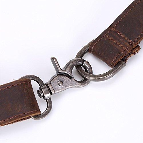 Bolsos Cuero Brown Loco Primera Rzl Los Paquete Cruzados Cintura Capa De La Y Hombres Bolso Retro dqqv6Z