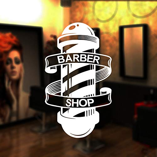 PPL21 Wall Stickers - Man Barber Shop Sticker Name Chop Bread Decal Haircut Shavers Posters Vinyl Wall Art Decals Decor Windows Decoration Mural 1 PCs