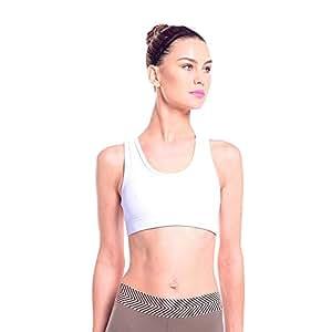 Nina B. Roze White Sport Bra For Women