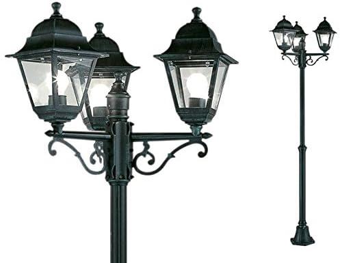 Farola de jardín mod. 3 luces diámetro 24/46 x H. 130/203 cm ...
