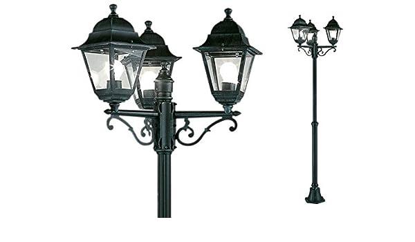 Farola de jardín mod. 3 luces diámetro 24/46 x H. 130/203 cm.: Amazon.es: Iluminación