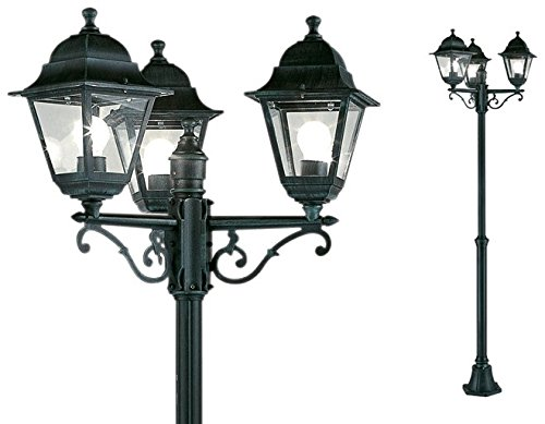 Lampioni Da Giardino Obi.Lampione Da Giardino Mod 3 Luci O 24 46 X H 130 203 Cm Amazon