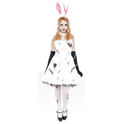 Uniton Death of Doll - Crazy Bunny Costume with Makeup Included Small Size ()
