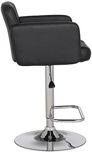 Trek Large Adjustable Height Black Bar Stool Buy Online