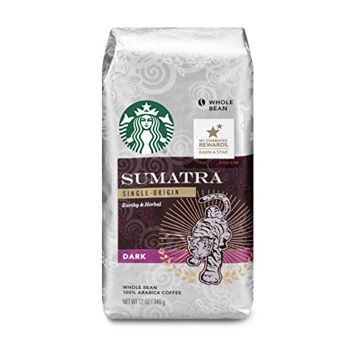 Starbucks Sumatra Dark Roast Whole Bean Coffee, 12-Ounce Bag (Pack of 6)