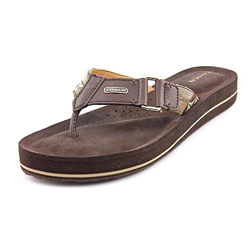 Coach Women Leather Brown Sandal