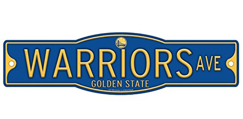 Golden State Warriors Basketball Plastic 4 x 17 Street Sign by WinCraft