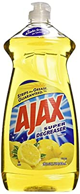 Ajax Dishwashing Liquid, Super Degreaser, Lemon