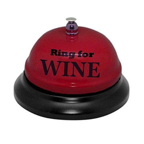 (Ring For Wine Desk Bell Christmas Xmas Holiday Stocking Filler Secret Santa Novelty Present)