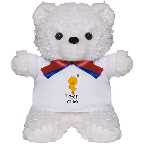 CafePress - Golf Chick - Teddy Bear, Plush Stuffed Animal (Golfing Teddy Bear)
