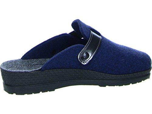 bleu feutre Mesdames Bleu Rohde 2282 pantoufle 34 pU4Fcw1q