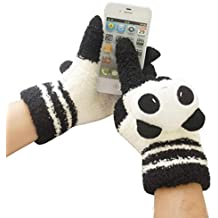 Besde Fashion Womens Girls Ladies Panda Touch Screen Warm Gloves Gift
