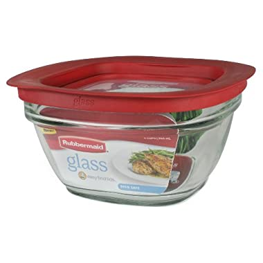 Rubbermaid Easy Find Lid Glass Food Storage Container, 4 cup (2856004)