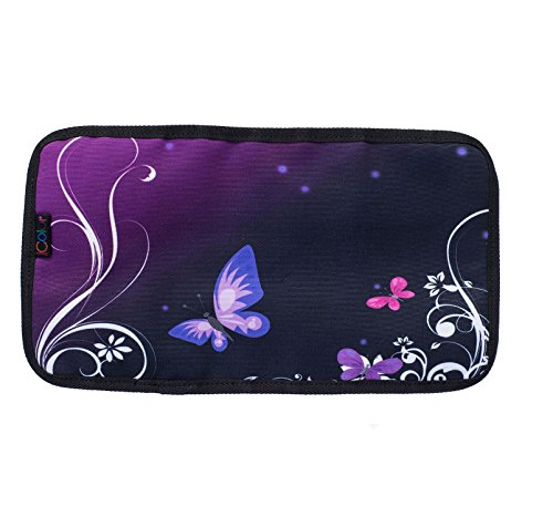 Price comparison product image iColor Butterfly Universal Electronics Accessories Bag Organizer Travel Gadgets Carrying Case Pouch for USB Cables, Pens,  Makeup Brush,  Earphone,  USB Flash Drive and More (CAB-15)