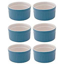 Mrs. Anderson\'s Baking Ceramic 6-Ounce Souffle Dish, Bayberry, Set of 6