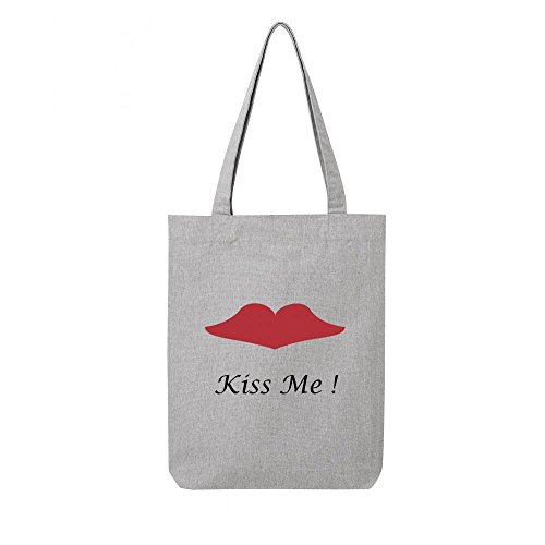 gris toile en kiss recycle me bag Tote qFEIE
