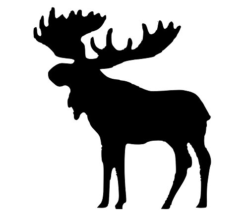 (Pack of 3 Moose Style 2 Stencils Made from 4 Ply Mat Board 11x14, 8x10,)