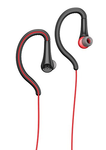 Motorola Earbuds, Sport Water Resistant In-Ear Headphones - Red (SH008 RD)