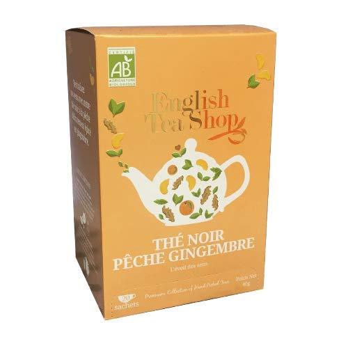 English Tea Shop Ginger Peach Tea Organic, 20 Sachet Tea Bags
