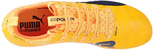 Puma Evopower Vigor 1 MX SG, Scarpe da Calcio Uomo Arancione (Ultra Yellow-peacoat-orange Clown Fish 02)