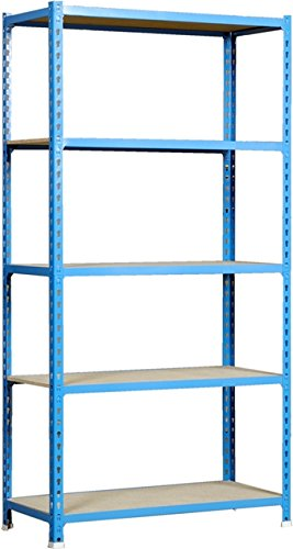 simonrack 448100025201145 maderclick SUPERPLUS 5/400-Set Regal blau/Holz