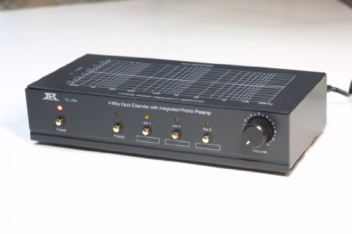 (TCC TC-754 BLACK RIAA Phono Preamp (Pre-amp, Preamplifier) With Three Switchable Aux Inputs and Variable Output Level)