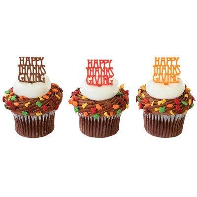 Happy Thanksgiving Cupcake Picks - 24 pc