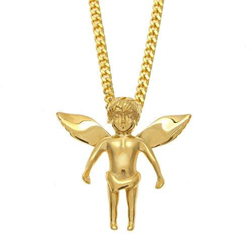 Gold Baby Angel Pendant - 9
