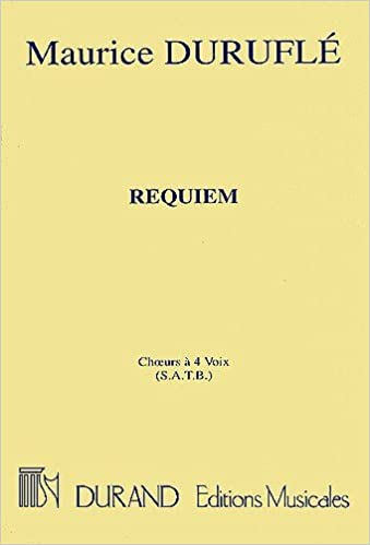 Maurice Durufle: Requiem (Choral Score)  Sheet Music for SATB