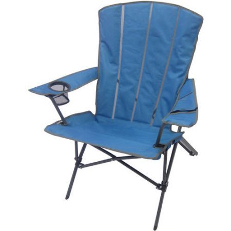 Ozark Trail High Back Shell Foldable Camping Chair with built-in cup holder and carry bag, Turquoise
