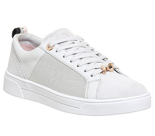 Ted Baker Signore Kulei Sneaker, Bianco Argento