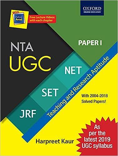 Buy 2019 Latest Syllabus - NTA UGC NET / SET / JRF - Paper 1