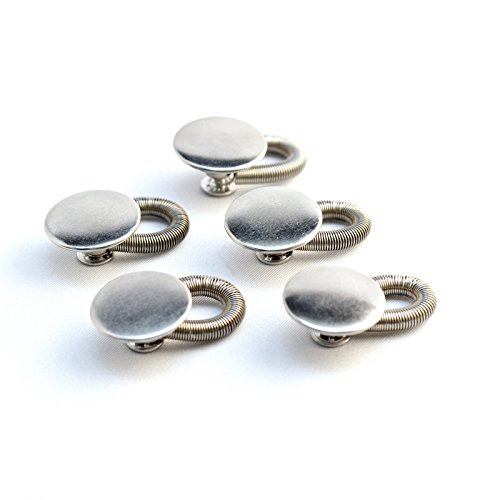 (5-Pack Spring Button Pant Extender - Premium, sturdy metal - Adds up to 2