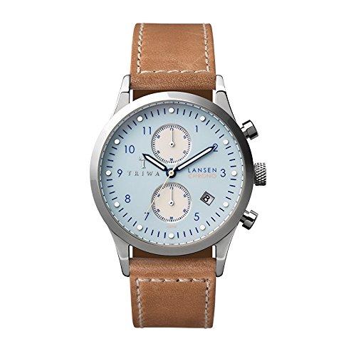 Triwa LCST110-SC010612 Sky Lansen Tan Leather Strap Chrono Watch