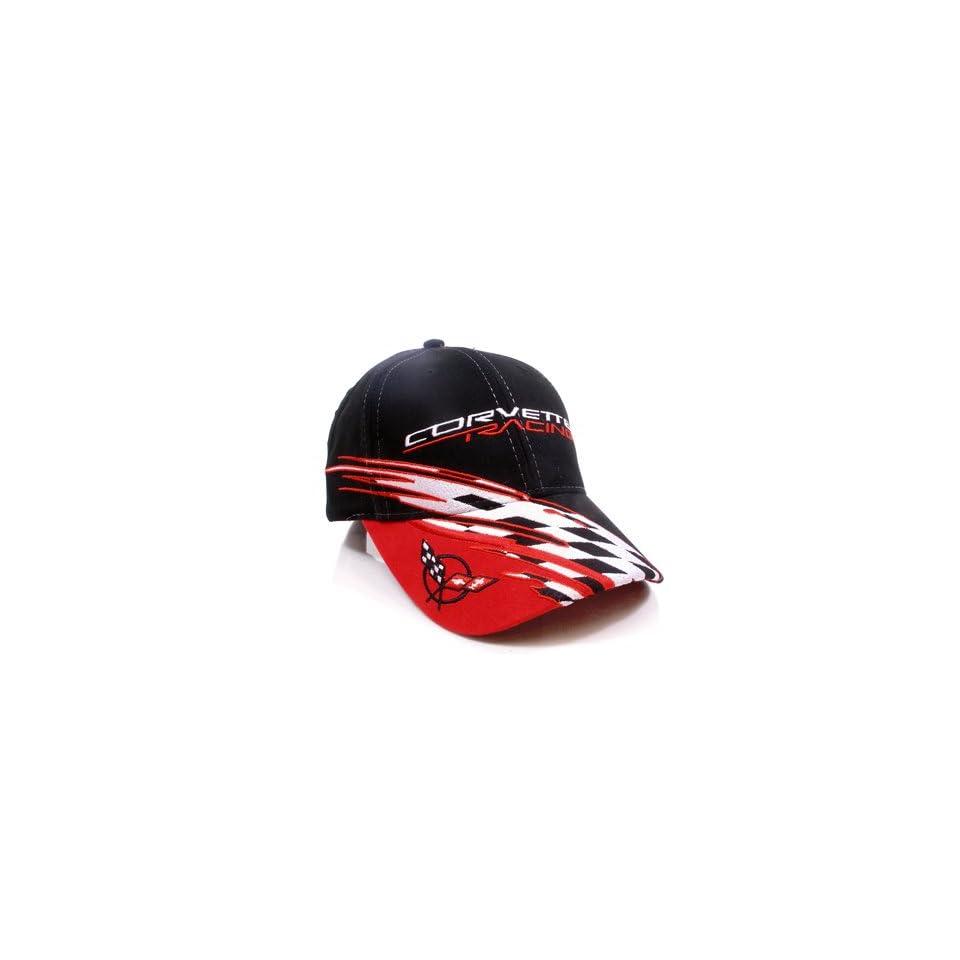 Chevrolet Corvette C5 Logo Racing Checkered Flag Baseball Cap