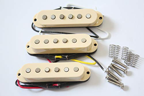 Artec Alnico 5 Single Coil Strat Pickup Set Cream Cover From Korea
