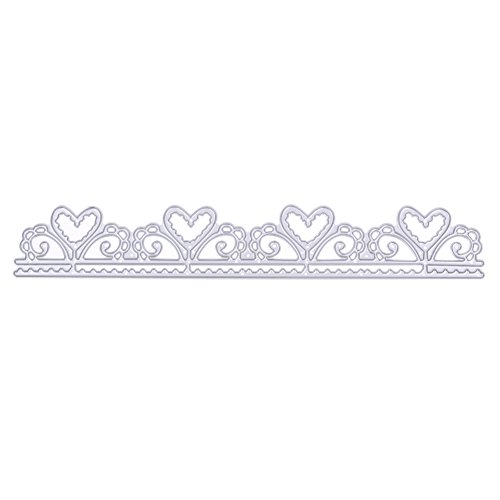 Heart Borderline Lace Metal Cutting Dies Stencils for DIY Scrapbooking Handmade Paper Cards Album Embossing Decorative Craft