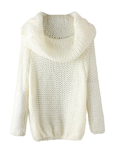 Persun Womens Shoulder Knitted Sweater
